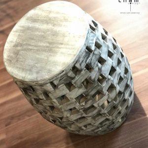 Đôn gỗ ghép trang trí nội thất DG05 1
