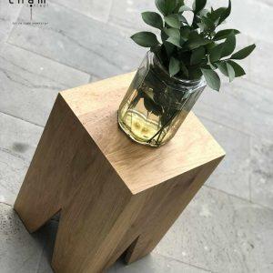 Đôn gỗ ghép trang trí nội thất DG08 2
