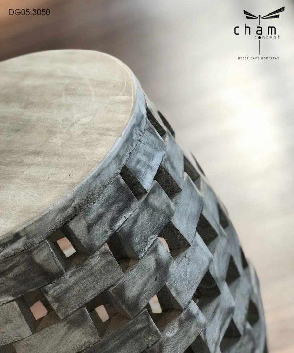 Đôn gỗ ghép trang trí nội thất dg05 2
