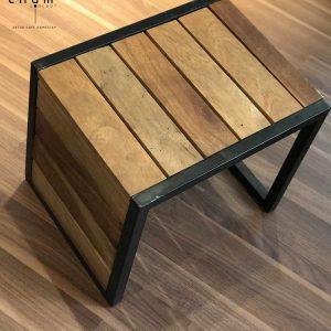 Bàn gỗ chân sắt DG16