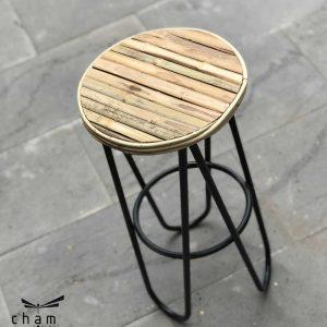 Bàn gỗ chân sắt DT01 2